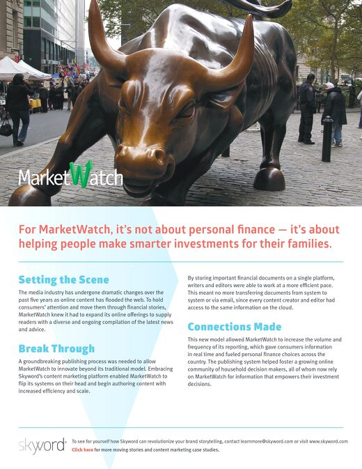 MarketWatch - Skyword Case Study