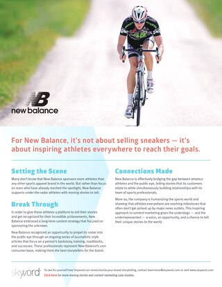 New Balance - Skyword Case Study
