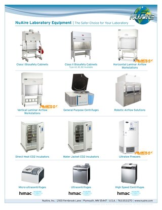 [Flyer] NuAire Research Laboratory Equipment Line Card