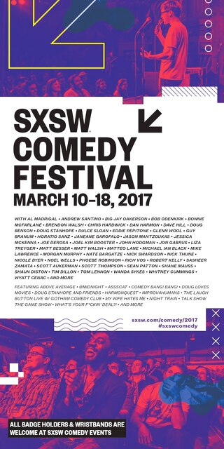 SXSW 2017 Comedy Pocket Guide
