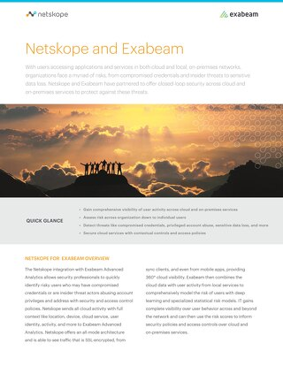 Netskope and Exabeam