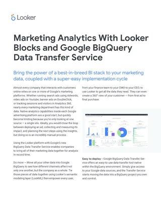 Looker Blocks for Google BigQuery Data Transfer Service