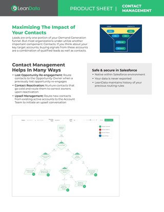 Contact Management Datasheet