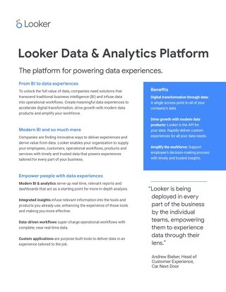 Looker: The platform for powering data experiences