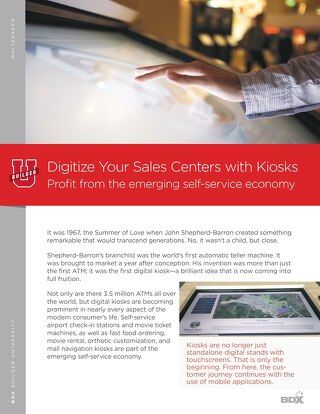 Kiosks- Profit from the Emerging Self-Service Economy