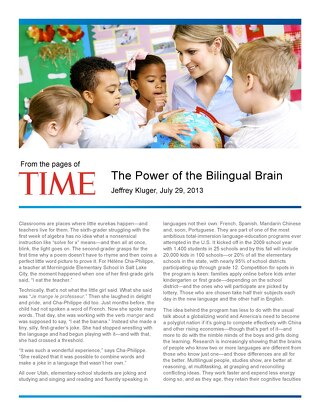The Power of the Bilingual Brain