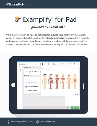 ExamSoft Examplify for iPad One Pager