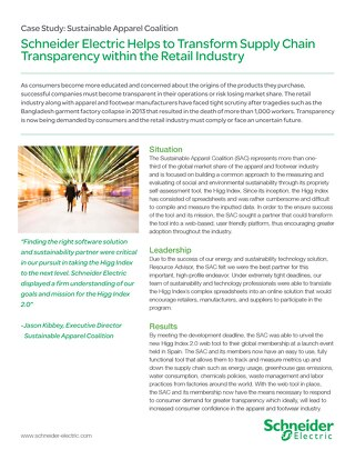 Retail: Supply Chain Transparency Within the Retail Industry