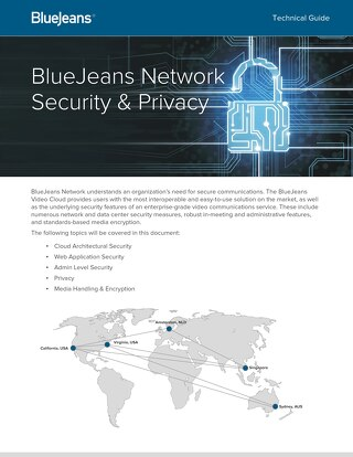 BlueJeans Security and Privacy Data Sheet