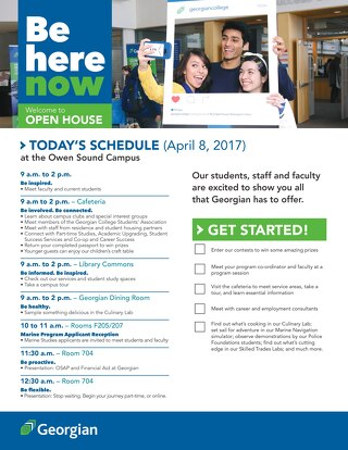 2017 Spring Open House - Owen Sound booklet