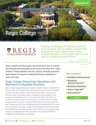 Regis College Spotlight