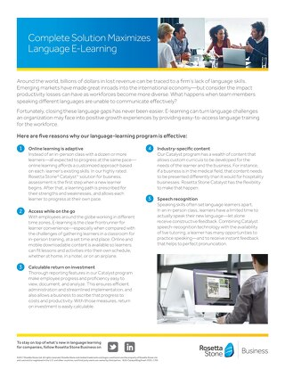 Complete Solution Maximizes Language E-Learning