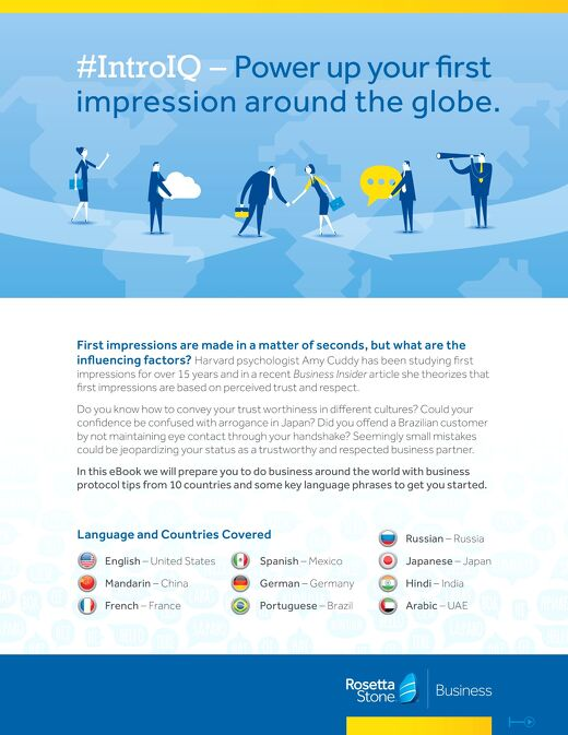 #IntroIQ - Power Up Your First Impression Around the Globe