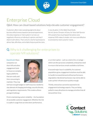 Why Enterprise Cloud Q and A