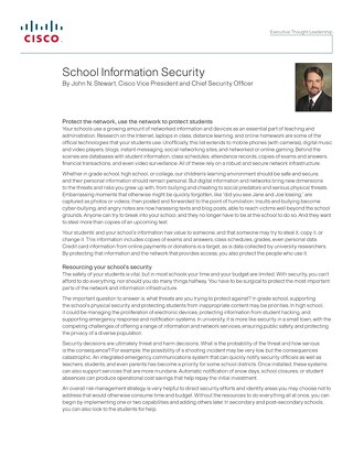 School information security