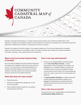 Community Cadastral Map of Canada