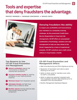 Fraud and Risk Management Slipsheet