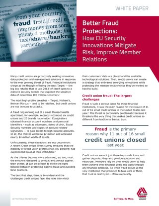 CU Times Better Fraud Protection Whitepaper