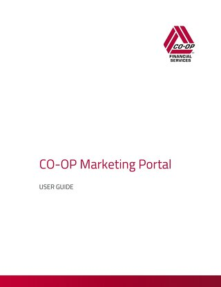 CO-OP Marketing Portal User Guide