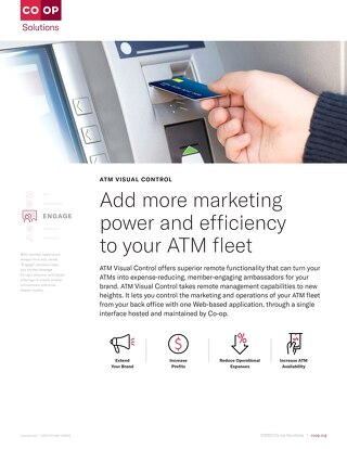 ATM Visual Control Slipsheet