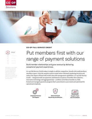CO-OP Full Service Credit Slipsheet