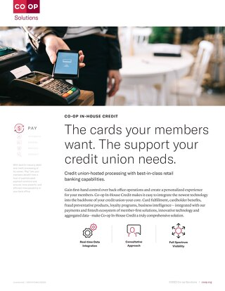 CO-OP In-House Credit Slipsheet