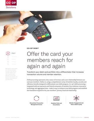 CO-OP Debit Slipsheet