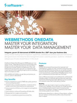 Get the facts about OneData