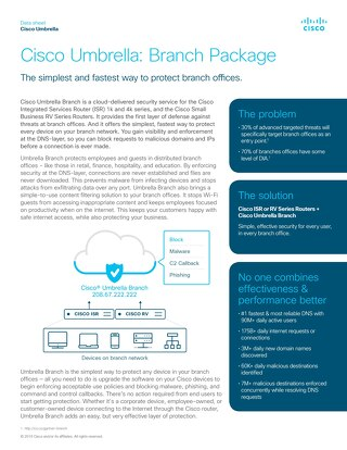Umbrella branch package