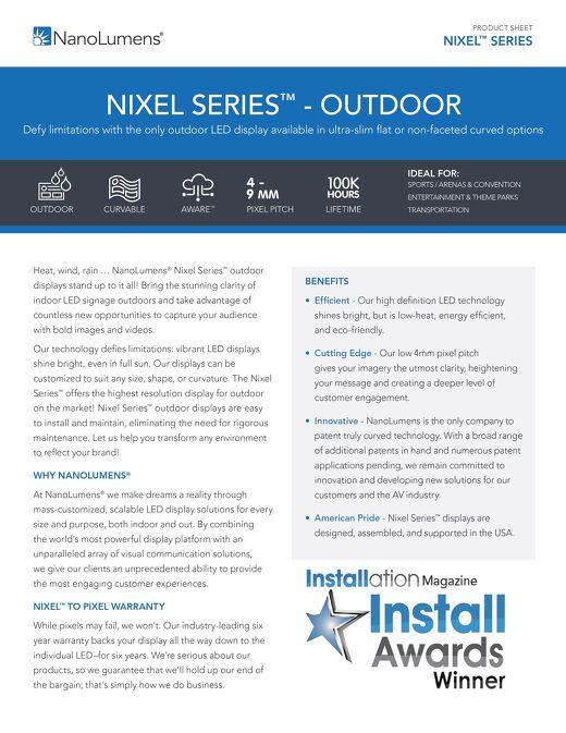 NanoLumens Nixel Series™ Outdoor