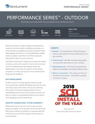 Performance Series™ Outdoor