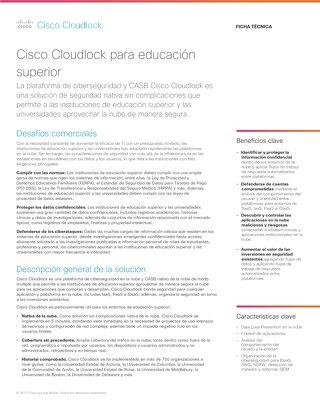 Cisco Cloudlock for Higher Education – Spanish