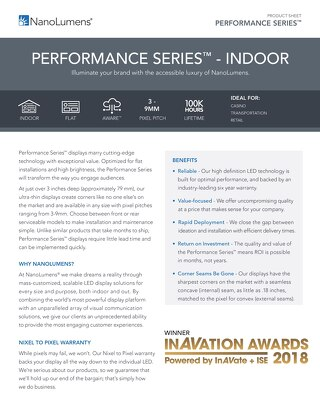 NanoLumens Performance Series Indoor