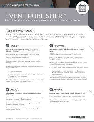 Event Publisher Datasheet