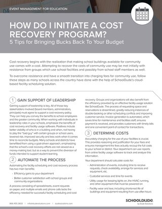 5 Tips for a Cost Recovery Program