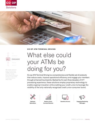 ATM Terminal Driving Slipsheet