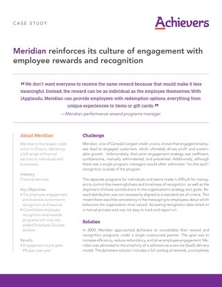 Meridian - Achievers Customer Story