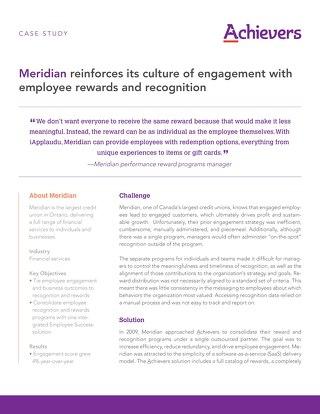 Meridian - Achievers Customer Story
