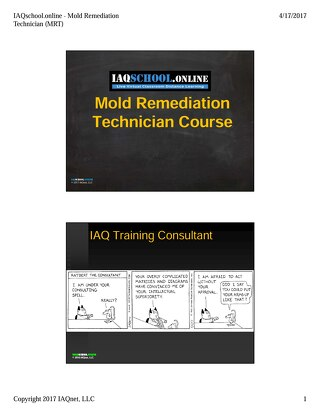 Mold Remediation Technician Course v1.0