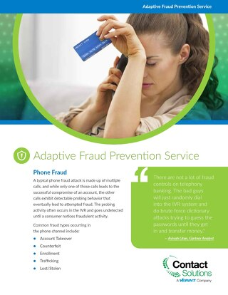 Adaptive Fraud Prevention Service