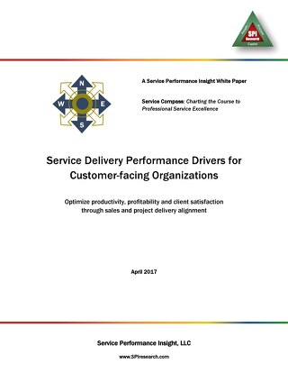 SPI Research - Service Delivery Performance Drivers for Customer-facing Organizations