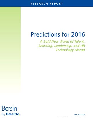 Analyst Insight - Bersin -  2016 Predictions