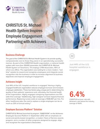 CHRISTUS St. Michael Customer Success Story