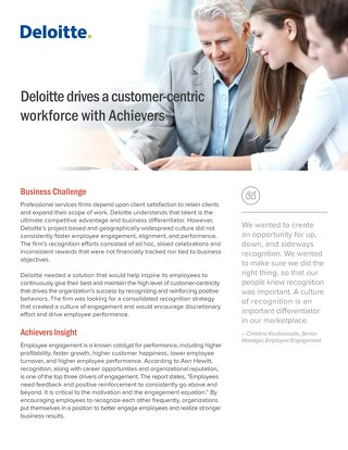 Deloitte - Achievers Customer Story
