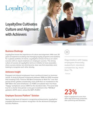 LoyaltyOne - Achievers Customer Story