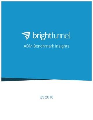 ABM Benchmark Insights Report 2016