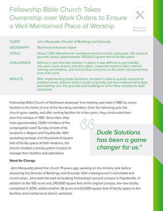 Fellowship Bible Church Case Study