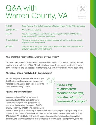 Warren County, VA Case Study