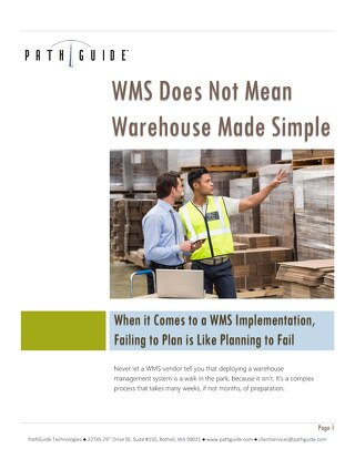 Implementing a WMS