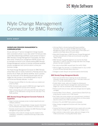Nlyte Change Management Connector For BMC Remedy Data Sheet